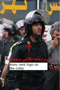 Armed forces uniform and the logo on the color represents regular armed forces.